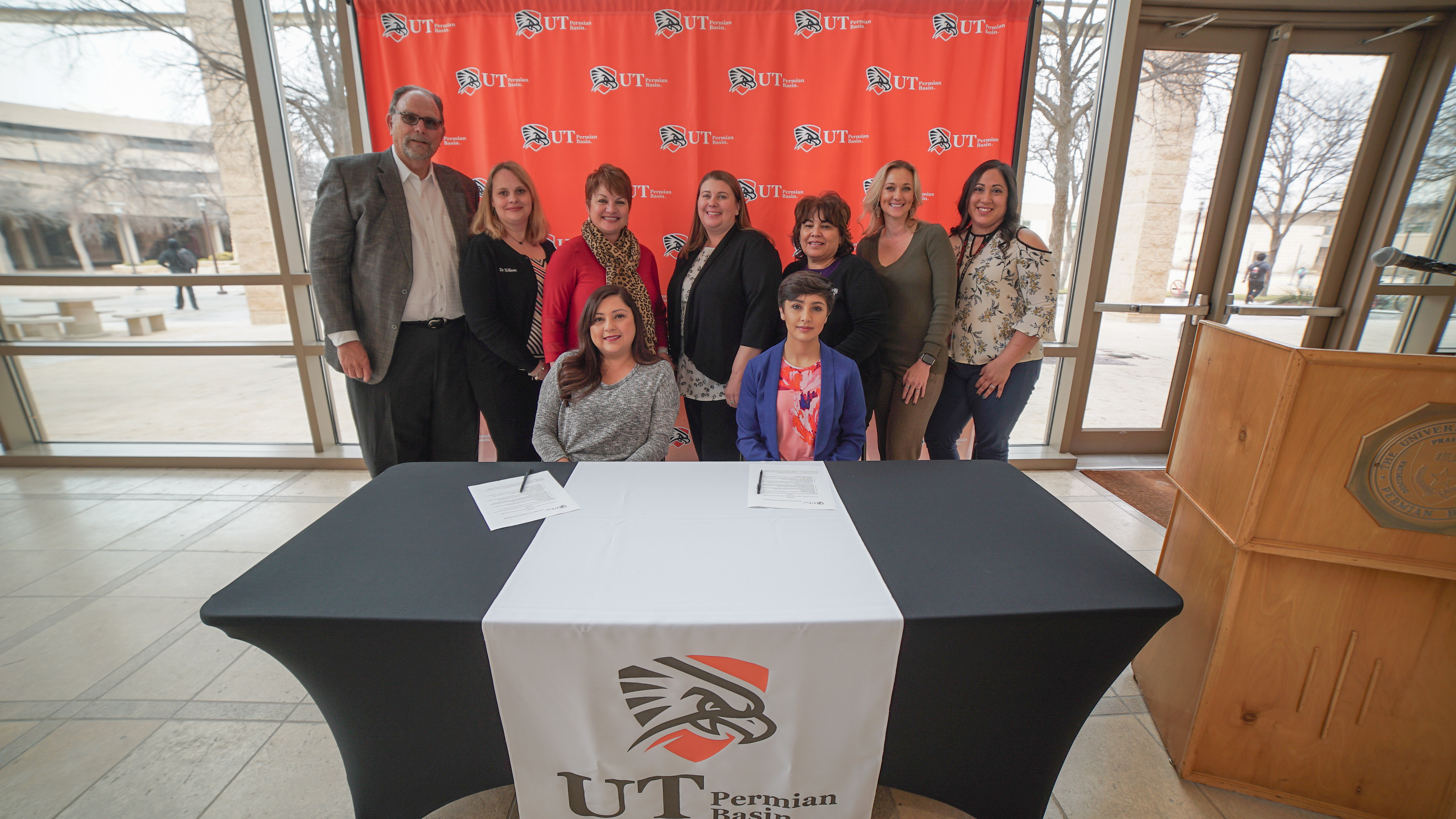 UTPB and education foundation representatives